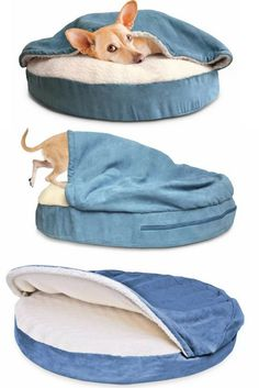This would be so cozy. Snuggery Hooded Dog Bed #ad #dog #dogs #pets #dogbeds