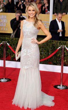 Katrina Bowden @ SAG Awards 2013 (Best Dressed in Badgley Mischka)