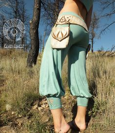 Persian Yoga Harem Pant with Braided Ankle by ElvenForest on Etsy