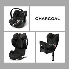 Our new CYBEX child car seat collection in charcoal.