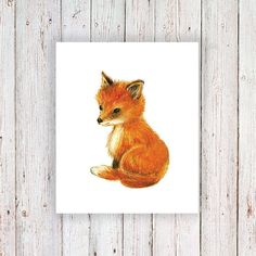 Cute little fox temporary tattoo by Tattoorary on Etsy