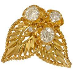 Van Cleef & Arpels Old European Cut Diamond Gold Brooch