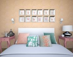 """Check out new work on my @Behance portfolio: """"Coral Bedroom"""" http://be.net/gallery/28669671/Coral-Bedroom"""