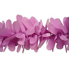 might be able use these somehow as faux wisterias....Orchid Vinyl Festooning is the decorating essential you've been looking for! Floral sheeting petals are formed into garlands to create Festooning.