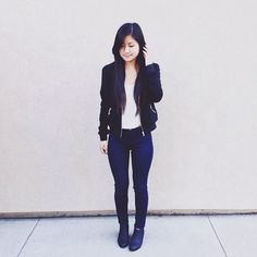 helloosandra in our relaxed bomber jacket from Fevrie!