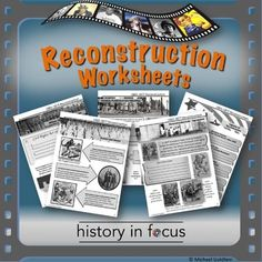 Reconstruction Worksheets!Are you teaching Reconstruction, Black Codes, Jim…