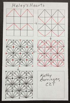 Image result for hailey's hearts zentangle