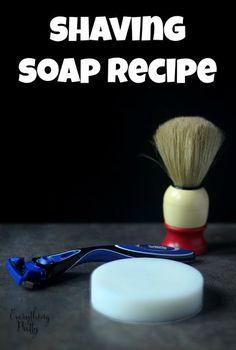 DIY Shaving Soap Recipe for Men via www.yourbeautyblog.com #schickhydro #ad