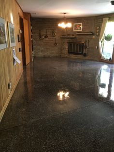 Residential Polished Terrazzo Floor