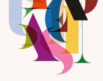 Study for a new typeface by Laura Meseguer, via Behance