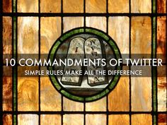 """This Haiku Deck listing """"The 10 Commandments Of Twitter"""" is created by Janet Fouts #Twitter"""