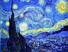 Vincent van Gogh's Starry Night. Art for the kitchen walls.