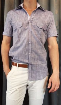 Franco Negretti woven shirt $130, Life/After/Denim chino pant $105, Strellson belt $120 all from Gotstyle Menswear.