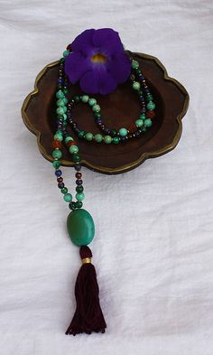 Krishna #Mala. Contains 108 Beads with tassel- by nora wendel
