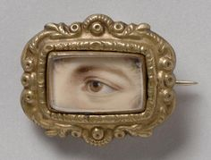 Philadelphia Museum of Art - Collections Object : Portrait of a Left Eye Ancient Jewelry, Antique Jewelry, Vintage Jewelry, Lovers Eyes, Eye Painting, Philadelphia Museum Of Art, Eye Jewelry, Eye Art, Memento Mori