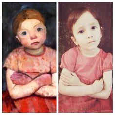 Le Na:  Portrait of an italian Girl in a red dress, von Paula Moderson-Becker.