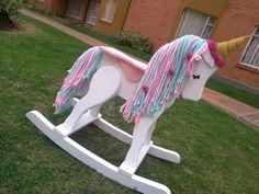 Emilia B Store Rocking Unicorn - Rocking Horse Wooden Toy - Wooden horse - Rocking toy- unicorn - A Unicorn Rocking Horse, Kids Rocking Horse, Toy Unicorn, Unicorn Baby Shower, Pet Toys, Baby Toys, Baby Rocker, Wooden Horse, Big Girl Rooms