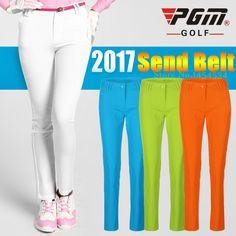 With Belt! PGM Golf Pants Summer Thin Style Women's Pants Golf Sportswear Korean Slim Stretch Pant Badminton Basketball Trousers #Affiliate
