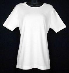 "This Worthington basic Cotton and Rayon-blend short sleeve, 26.5""-length career/casual top has an elasticized satin-effect crew neck! #WorthingtonTop  www.bevsthisnthatshop.com"