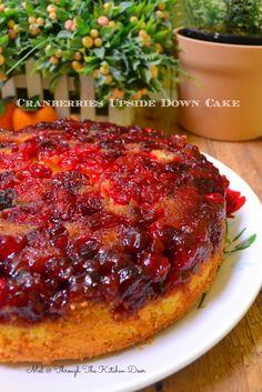 Through The Kitchen Door: CRANBERRIES UPSIDE DOWN CAKE