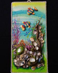# Taşsanat of Midyekabuk of the # Taşbo Game Pebble Painting, Pebble Art, Stone Painting, Seashell Art, Seashell Crafts, Stone Crafts, Rock Crafts, Resin Art, Clay Art