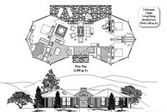 Prefab Homes House Plan: 3 Bedrooms, 2 Baths, 1400 sq. ft., Classic Collection (CM-0201) by Topsider Homes