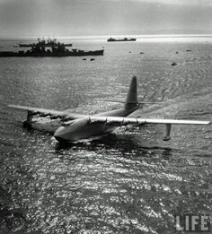 """The Hughes H-4 Hercules (""Spruce Goose"") made its only flight on November 2, 1947. Built from wood because of wartime restrictions, it was nicknamed the ""Spruce Goose"" by critics, despite being made almost entirely of birch. It is the largest flying boat ever built, and has the largest wingspan of any aircraft in history."