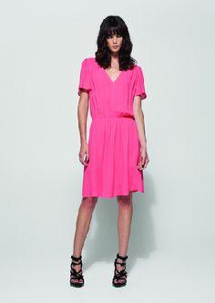 Love this hot pink dress! #fashion #dress #pink