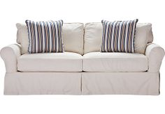Shop for a Cindy Crawford Home Beachside White Denim Sofa at Rooms To Go. Find Sofas that will look great in your home and complement the rest of your furniture.