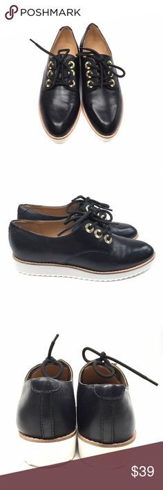 ALDO Black Brirani Almond Toe Brogues Gorgeous and chic brogues that haven't been worn at all. They ended up too big for me, but hope they'll find a happy home with someone else. 😊 Comes with original shoe box. RN #38773754 Aldo Shoes