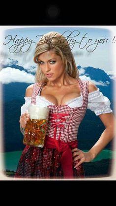 Boobs 'n Beer - exclusive at Oktoberfest, Munich, Germany Happy Birthday Meme, Birthday Greetings, Birthday Wishes, German Women, German Girls, Octoberfest Girls, Beer Maid, Estilo Cowgirl, German Oktoberfest