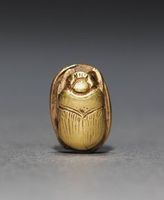 "gemma-antiqua: "" Ancient Egyptian golden scarab, dated to 1980-1801 BCE. Located in the Cleveland Museum of Art. """