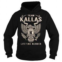 I Love Team KALLAS Lifetime Member - Last Name, Surname T-Shirt T shirts