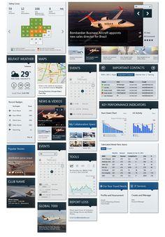 Behance | Bombardier | Sharepoint | design | UI | UX | screenshot | ram2013