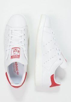 adidas originals stan smith luxe - baskets basses - white/collegiate red