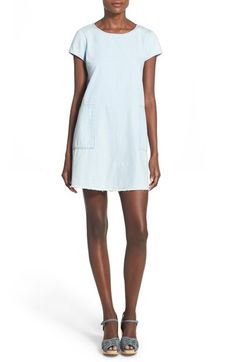 Mimi Chica Chambray Shift Dress available at #Nordstrom