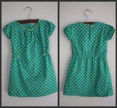 Anthro inspired dress tutorial, Schnittmuster selber machen, Tutorial für herziges grünes Kleid