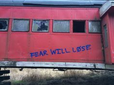 New bucket list item: Find old and abandoned things, such as this train car, and spray paint meaningful things on them. Even better is if I can have a group of hoodlum friends with me.