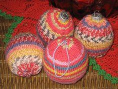 Christmas Ornaments Knit in Sock yarn