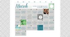 March Activity Calendar from MOPS.org. Also, visit the Monthly Activity Calendar board on Pinterest to see activity ideas for the days on the calendar that have the Pinterest symbol. Such a great resource!