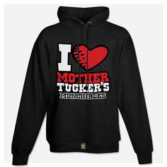 I (LUV) Mother Tucker's Munchibles - Black Hoodie (front)