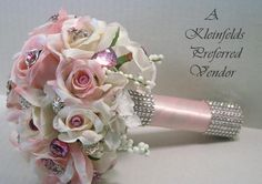 WEDDING BROOCH BOUQUET With Vintage And New Jeweled by PittmansArt