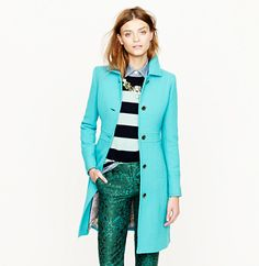 Crystal Cattle: #Turquoise Fashion Bloggers - I want this #JCrew #Turquoise Coat