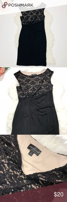 "Connected Apparel Lace Sequin Dress Size 10 Excellent condition. Connected Apparel Lace Sequin Dress Size 10. Lace is only on the top part with sequins detail. Sleeveless. Chest laying flat is 17"". Length 40"". Fabric has stretch. Absolutely gorgeous. Great for a night out with some black heels. Connected Apparel Dresses"