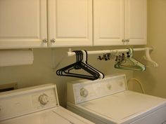 Laundry Room Cabinets | utilizing space under cabinets