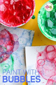 Looking for new art activities for kids? Bubble painting is a fun process art activity. Fine Motor Activities For Kids, Steam Activities, Color Activities, Sensory Activities, Bug Crafts, Preschool Crafts, Easy Crafts, Bubble Painting, Bubble Art
