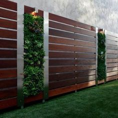 Garden fence with greenery