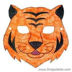 Tiger mask - printable animal masks