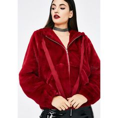 Furry Zip Up Hoodie (€41) ❤ liked on Polyvore featuring tops, hoodies, sweatshirt hoodies, red zip up hoodies, zip up hoodies, zip up top and red zip up hoodie