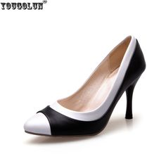 YOUGOLUN woman fashion pointed toe Thin high heels pumps women black white mixed colors summer autumn shoes women's work Pumps #Black high heels http://www.ku-ki-shop.com/shop/black-high-heels/yougolun-woman-fashion-pointed-toe-thin-high-heels-pumps-women-black-white-mixed-colors-summer-autumn-shoes-women-s-work-pumps/